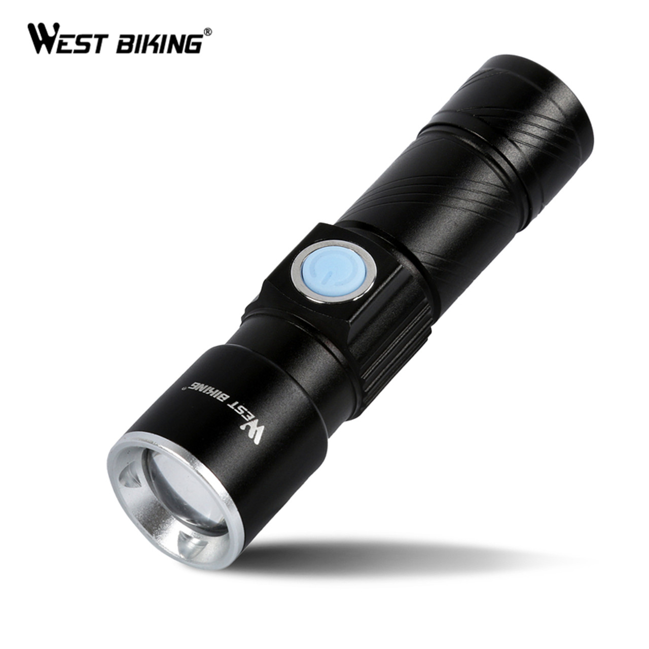 USB Rechargeable CREE LED Bicycle Bright Bike Front Headlight Light Lamp