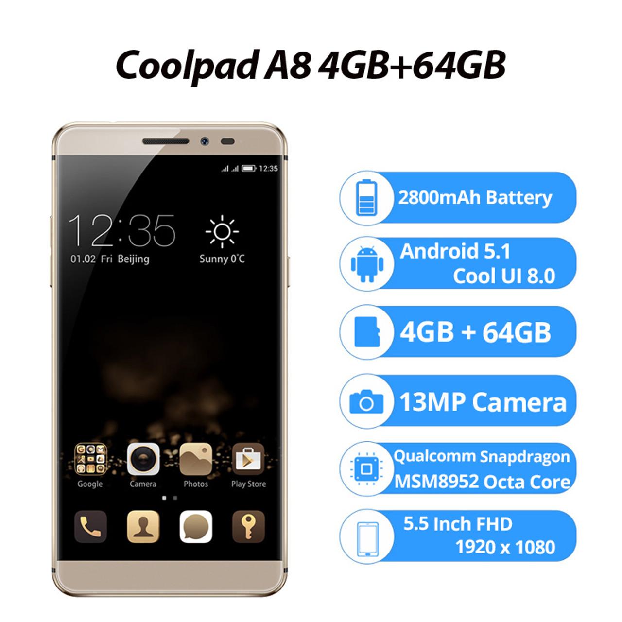 71b0607da ... Original Coolpad Max A8 4GB 64GB Smartphone Snapdragon MSM8952 Mobile  Phone Octa Core Cell Phones 5.5 ...