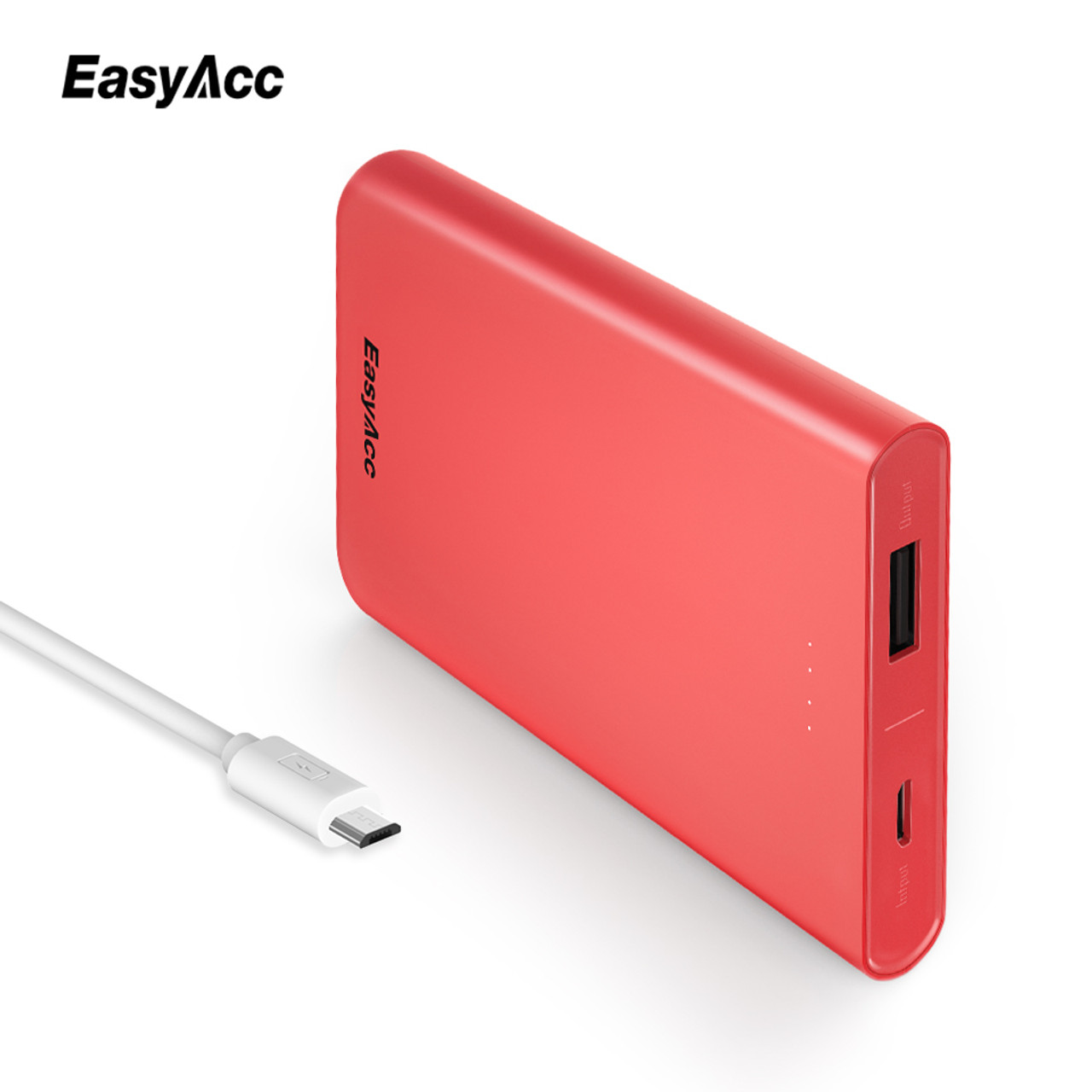 Easyacc 10000mah Power Bank For Xiaomi Mi 5v 2a Usb Port Slim 2 Original Fast Charge Portable Universal External