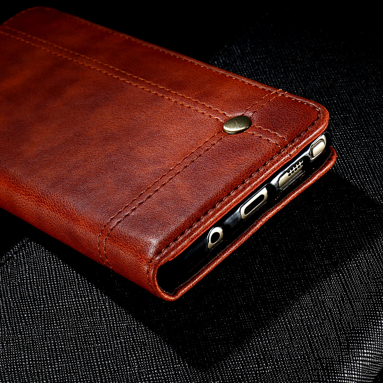sports shoes 87764 874f4 FLOVEME Phone Cases For iPhone 6 6s 7 7 Plus Luxury Men Flip Leather Brown  Wallet Mobile Cover Case For iPhone 7 6s 6 Capinhas