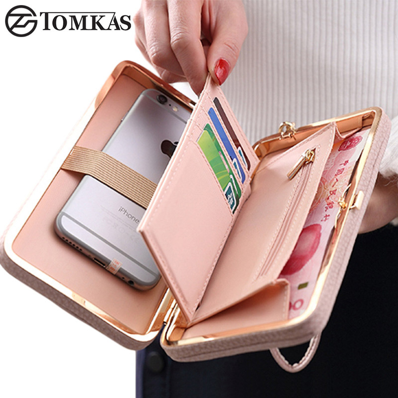 588789c20f5 Luxury Women Wallet Phone Bag Leather Case For iPhone 7 6 6s Plus 5s 5 For  ...