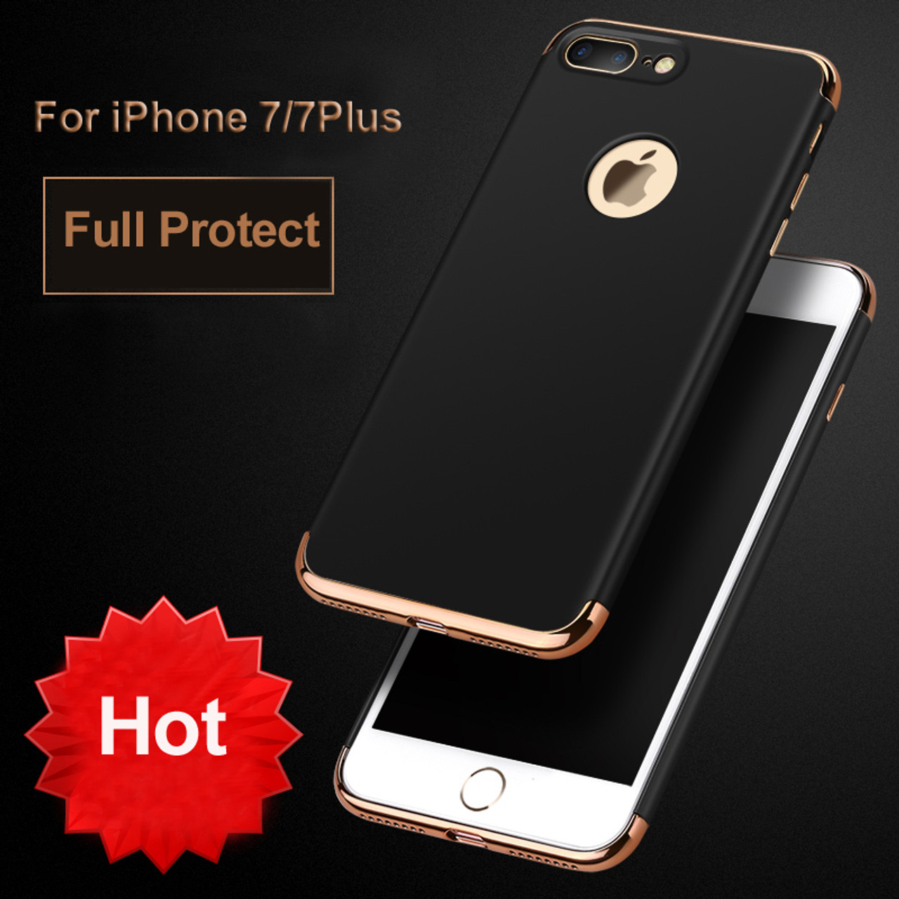 ... Vpower Plating Case For iphone 7 7 plus iphone 7 Case Gold Black Luxury  Thin ... 17f8c2c6b1