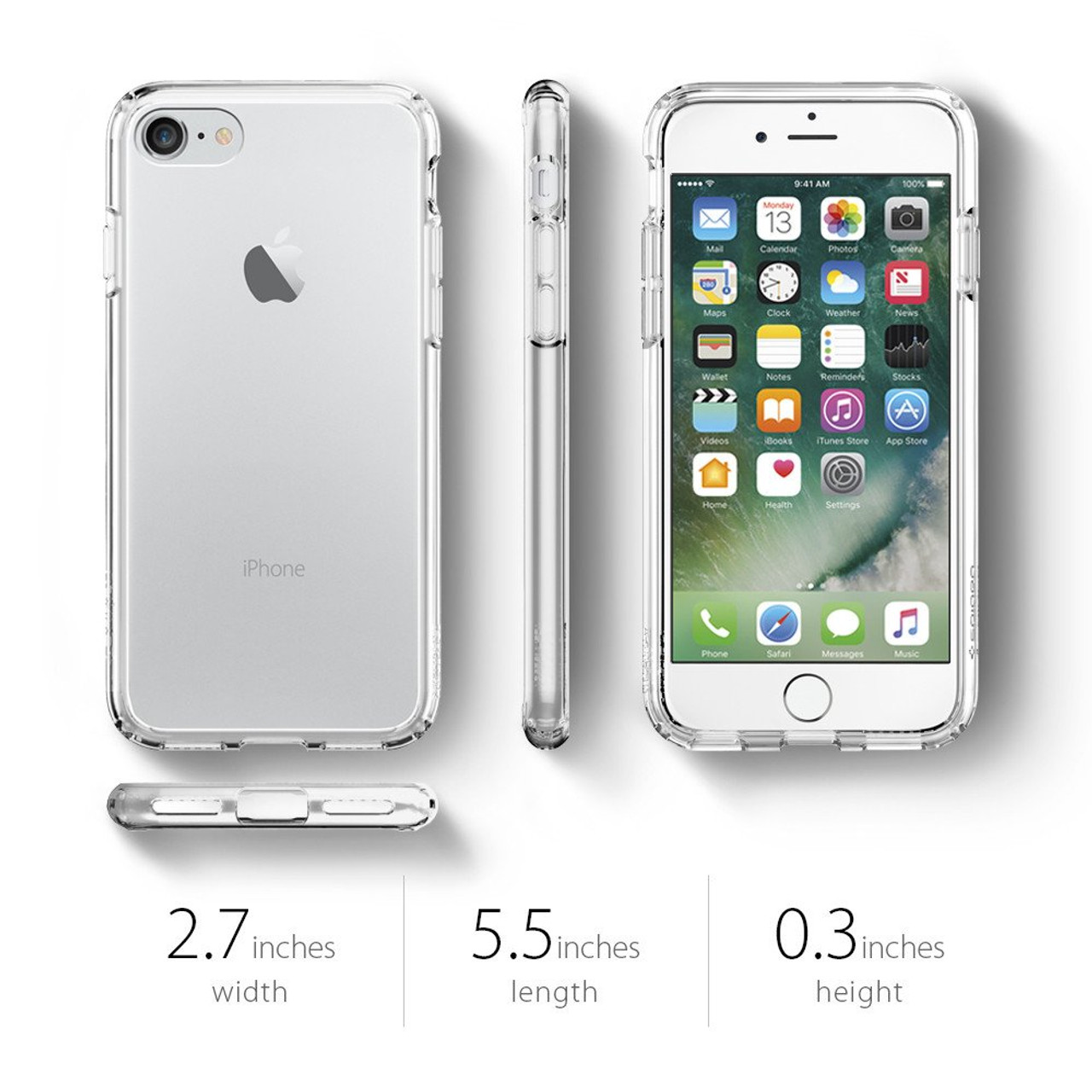 outlet store 79ccb 15c24 100% Original SPIGEN Ultra Hybrid Cases for iPhone 8 / iPhone 7