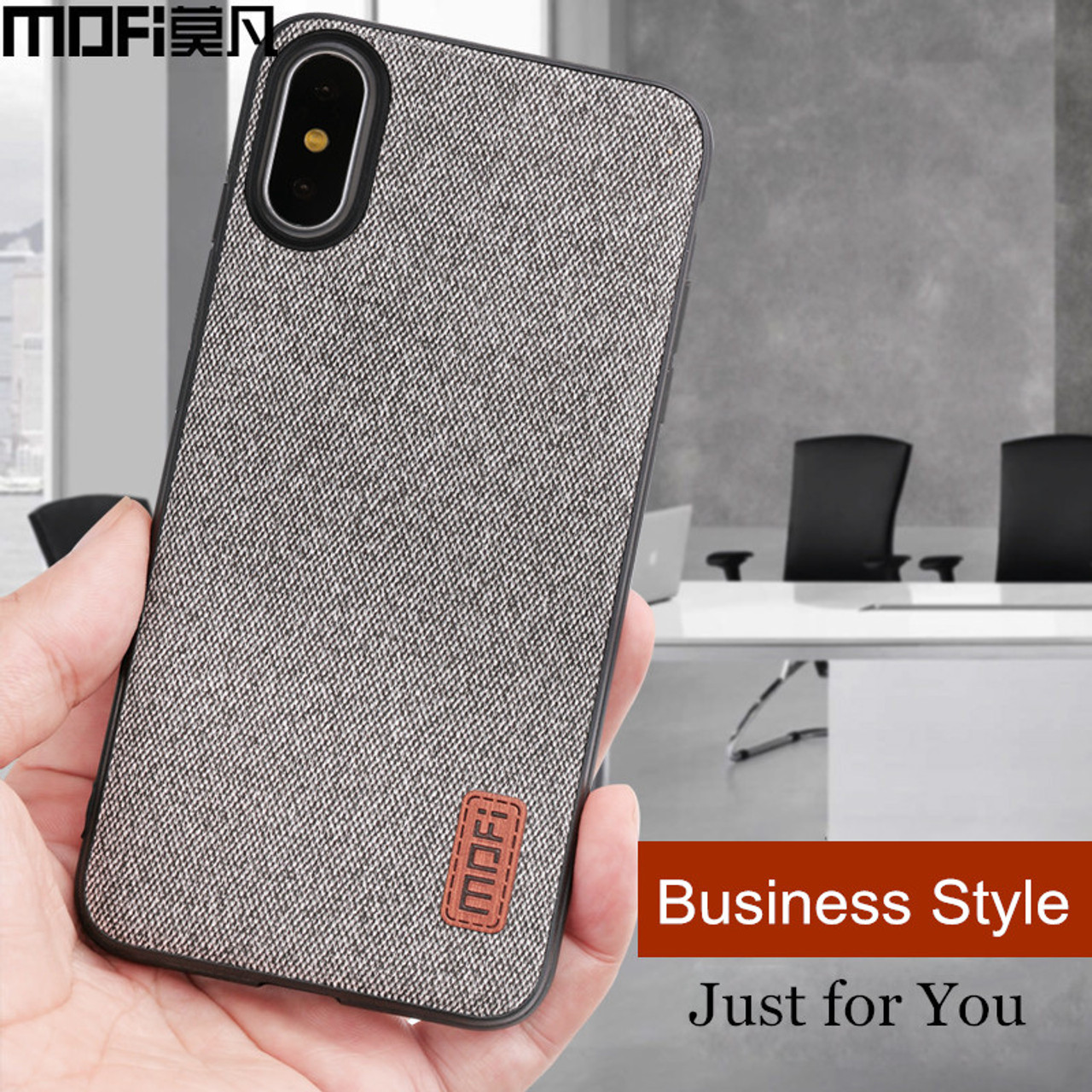 buy popular 1ddb0 a2129 MOFi case for iphonex case cover silicone edge shockproof men business for  apple x iphone x back cover for iphonex iphone x case