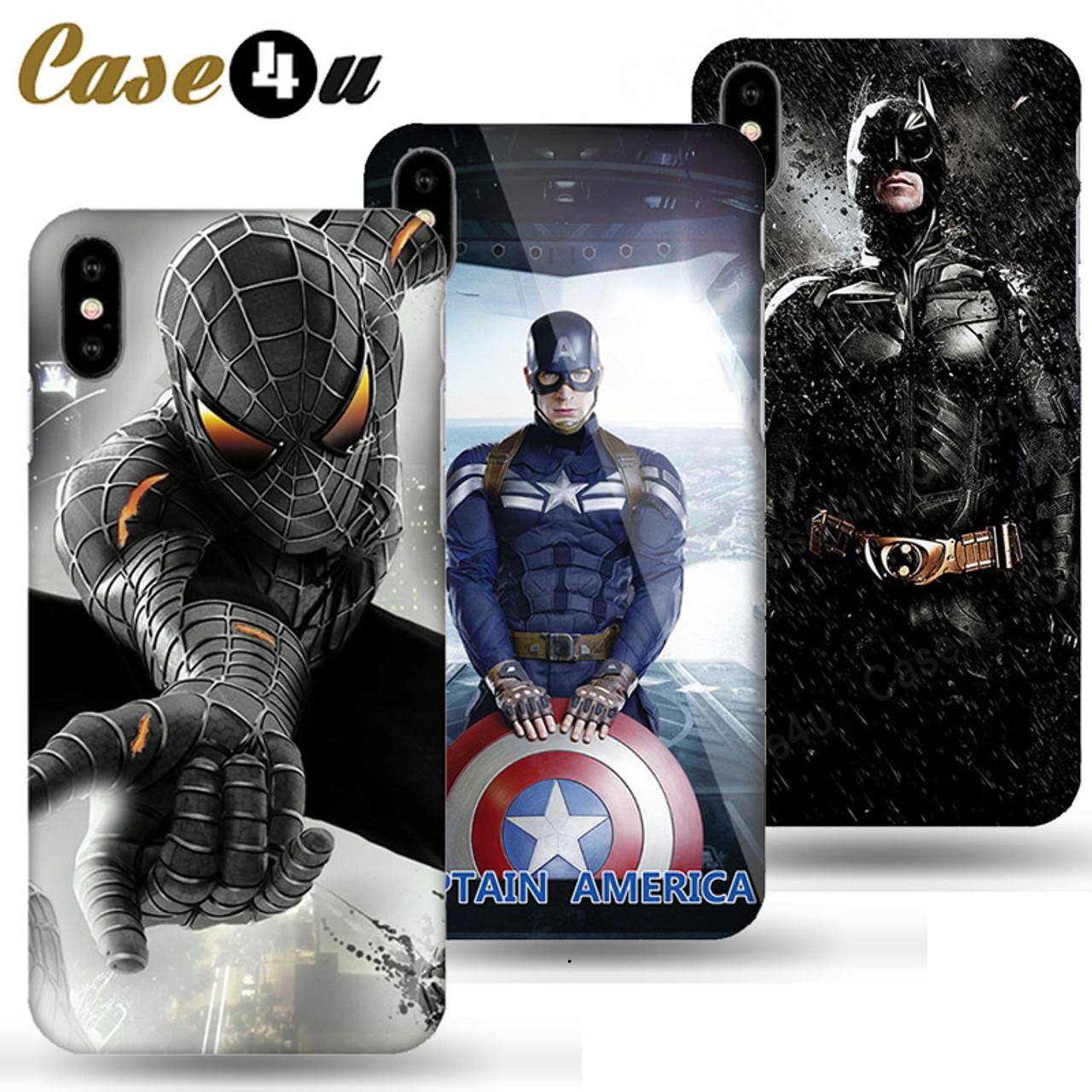 c26e29df648 Marvel Captain America Shield Superhero Case Cover for iPhone X 7 8 Plus 6  6s iPhoneX ...
