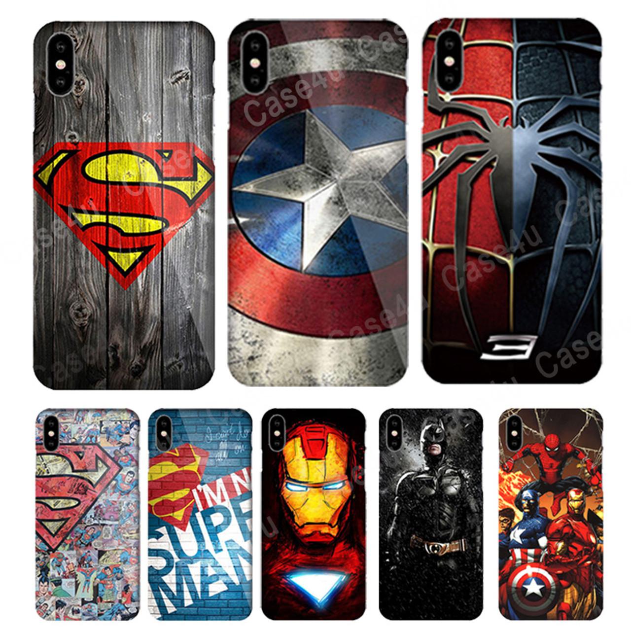 50f15004bf9 ... Marvel Captain America Shield Superhero Case Cover for iPhone X 7 8 Plus  6 6s iPhoneX ...