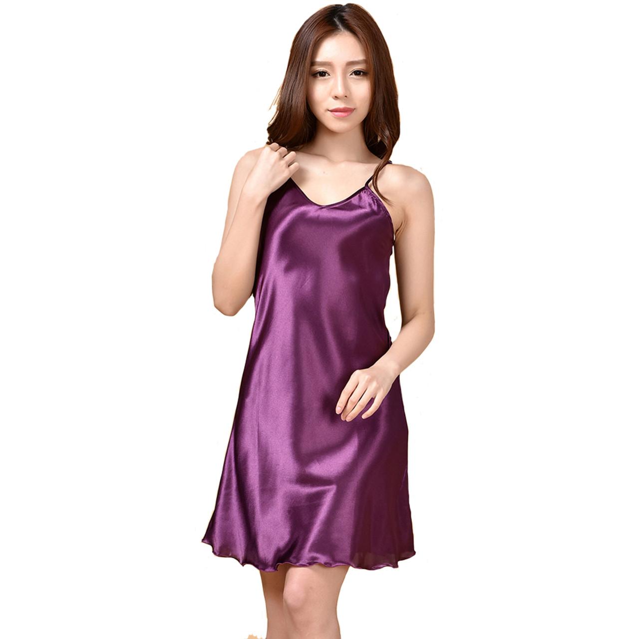 5692dae989 Summer New Women s Sleepwear Female Sexy Spaghetti Strap Nightgown Plus Size  XXXL Rayon Nightdress Short Robe ...