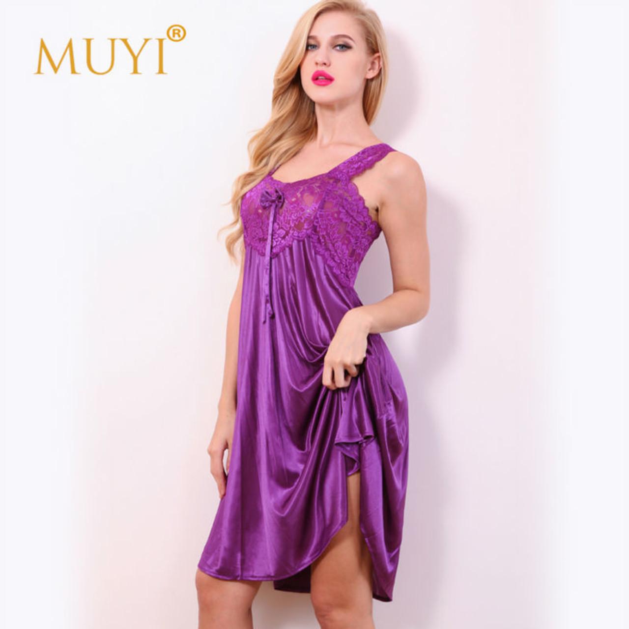db142652ba ... Nightgowns Sexy Sleepwear Women Nightwear Sexy Night Dresses Lace  Babydoll Dress Sleep Lounge Plus Size Nightgown ...
