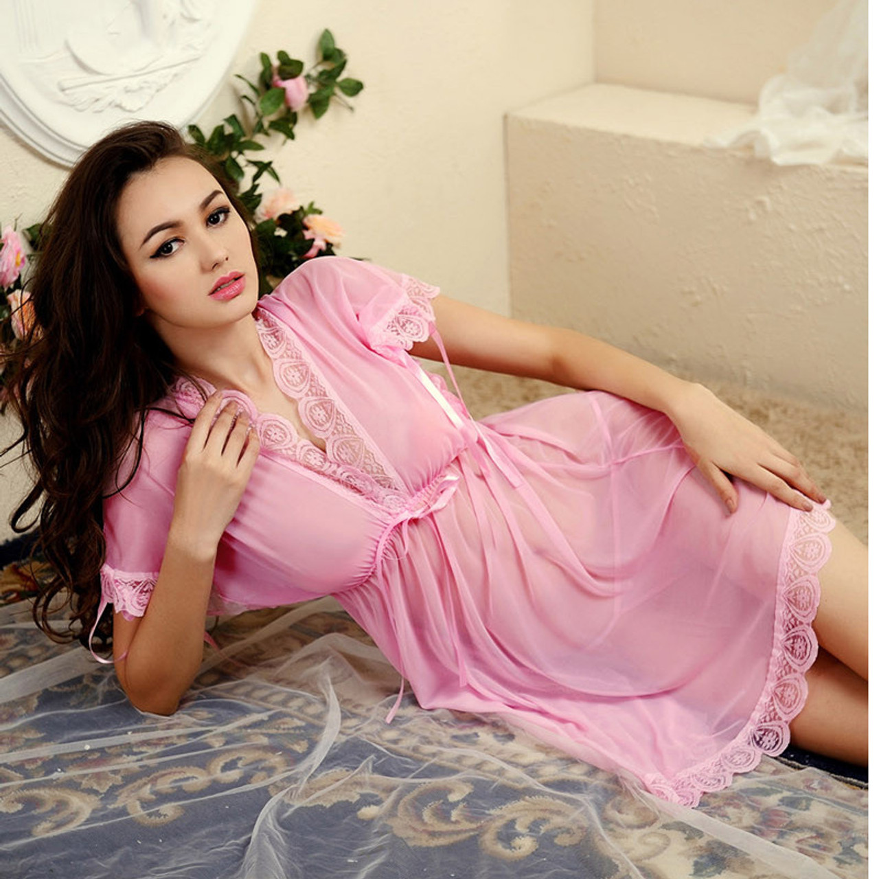 9df1b37ca0 ... Shirt sleep nightgowns Sleepwear nightdress Women s sexy sleepwear sexy  women s nightgown women sleep wear sets with ...