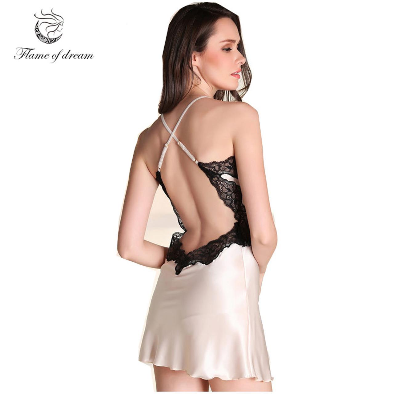 946e182ae8bbfb Silk Nightgowns Women Home Dress Sexy Nightgowns Sleep Wear For Women Sleep  Dress Women Ropa De ...