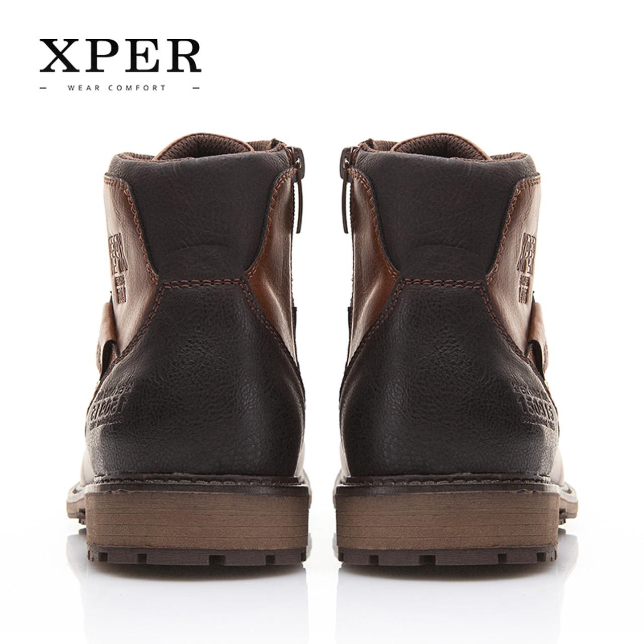 8ed574f69f274 XPER Autumn Winter Men Boots Big Size 40-48 Vintage Style Men Shoes Casual  Fashion High-Cut Lace-up Warm Hombre #XHY12504BR