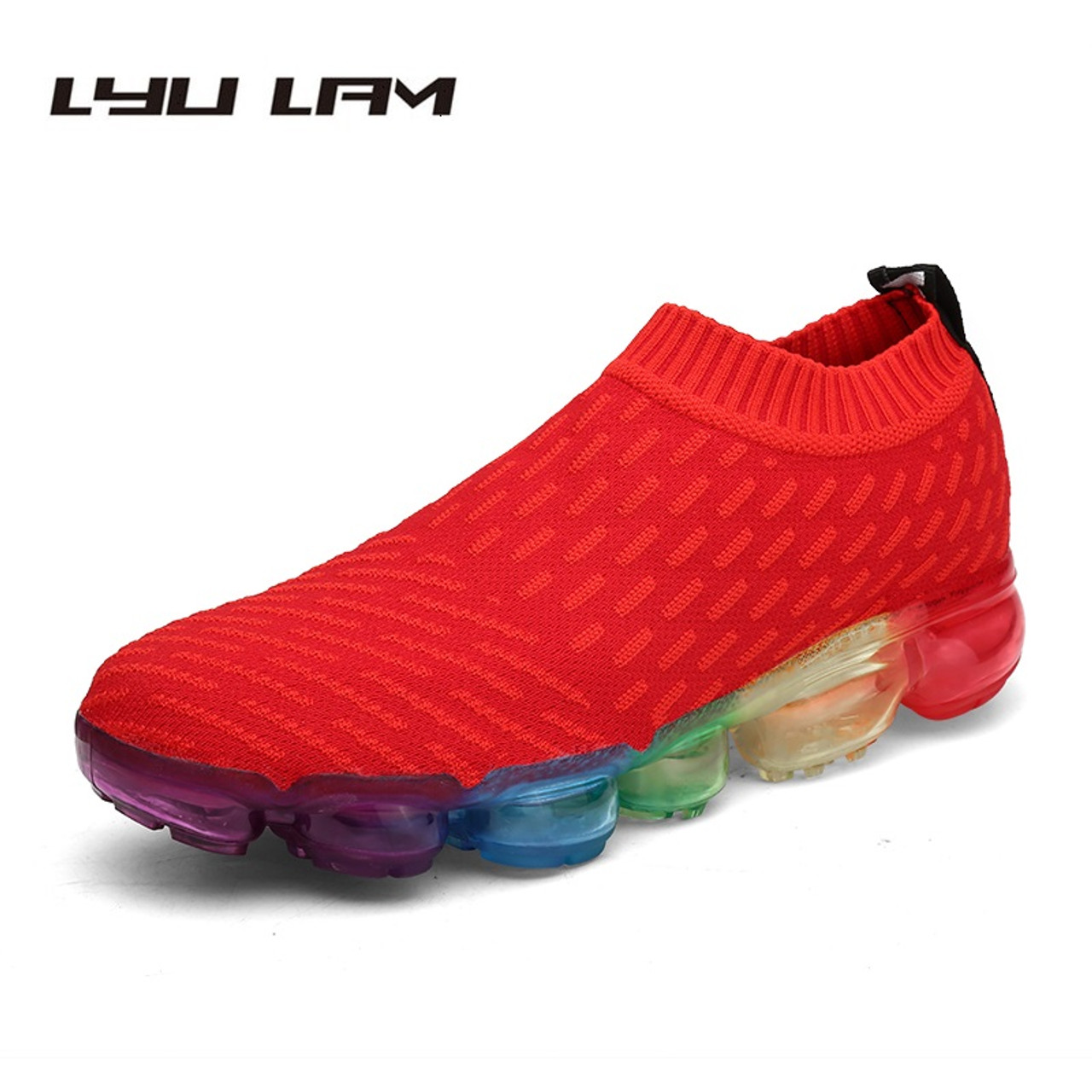94fd739c67 Colorful Soles New Design Men Casual Shoes Breathable Light Mens Loafers  Fashion Slip On Men s Red ...