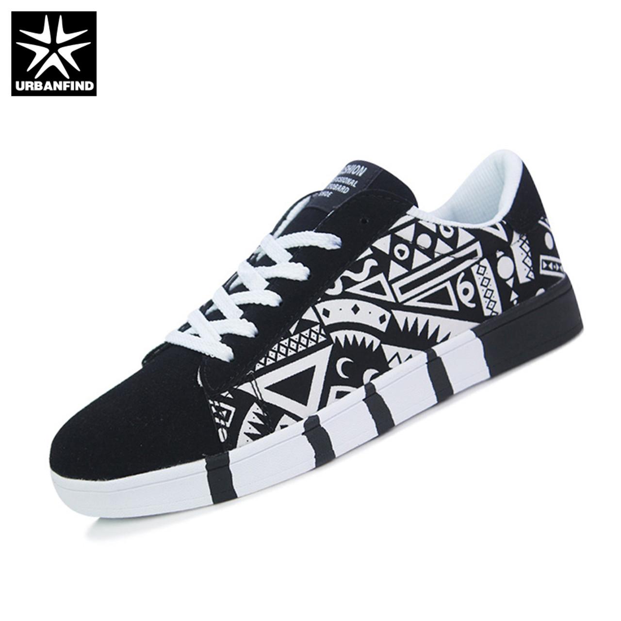 super popular c336c add2c URBANFIND Men Fashion Shoes Man Sneaker Size 39-44 Boy Casual Print Shoes  Men Canvas Breathable Lace Up Style Trend Footwear