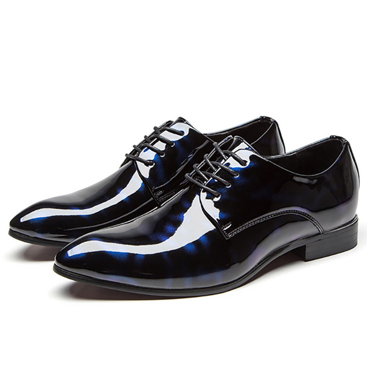 d559058b8f0fc5 ... COSIDRAM Men Formal Shoes Pointed Toe Business Wedding Patent Leather Oxford  Shoes For Men Dress Shoes ...