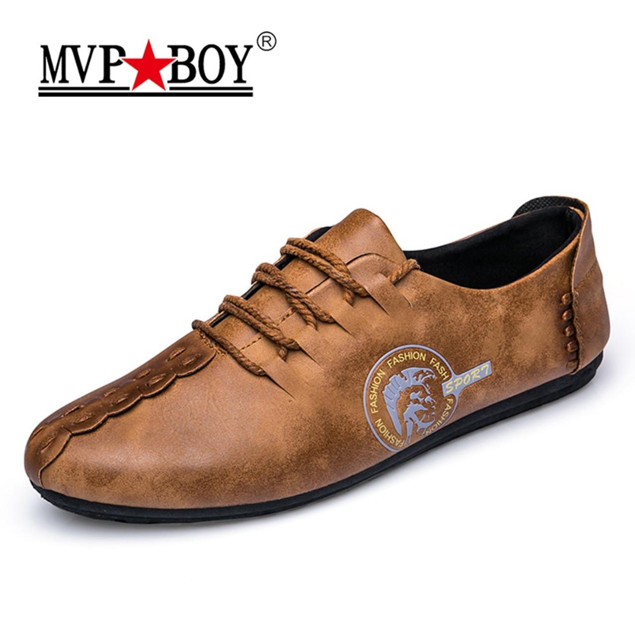 MVP BOY 2018 New Comfortable Casual Shoes Loafers Men Shoes Quality Split  Leather Shoes Men Flats ... 8d491c417f5b