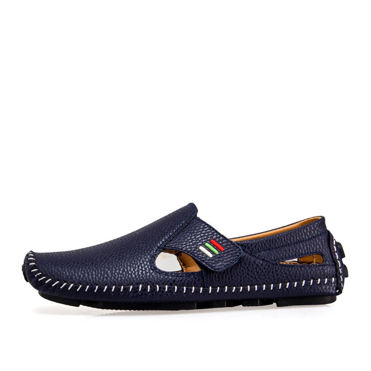1e74d4fbc9734 ... CcharmiX Plus Size 38-47 Leather Mens Shoe Spring Summer Breath Men  Luxury Driving Shoes ...