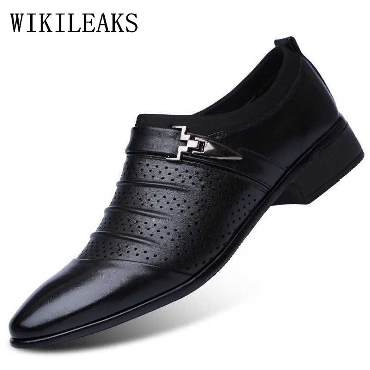 Hollow out oxfords formal shoes mens