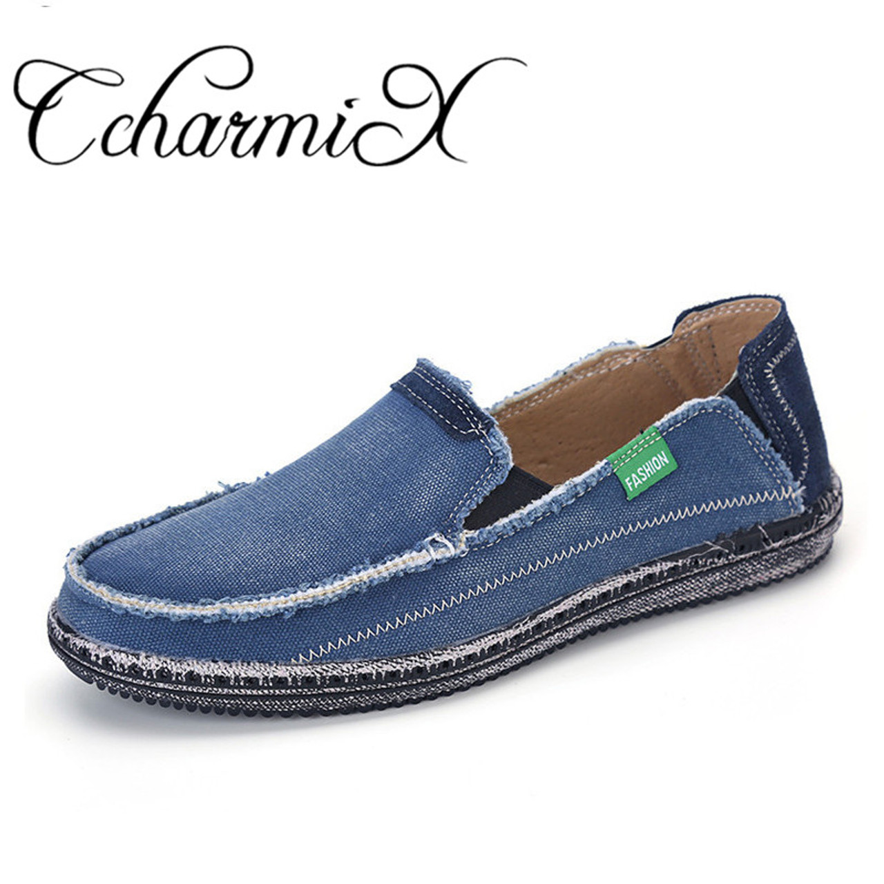 2bc8be096da5b9 CcharmiX Brand New Mens Jeans Canvas Casual Shoes Males Breathable High  Quality Fashion Shoes Men Fashion ...