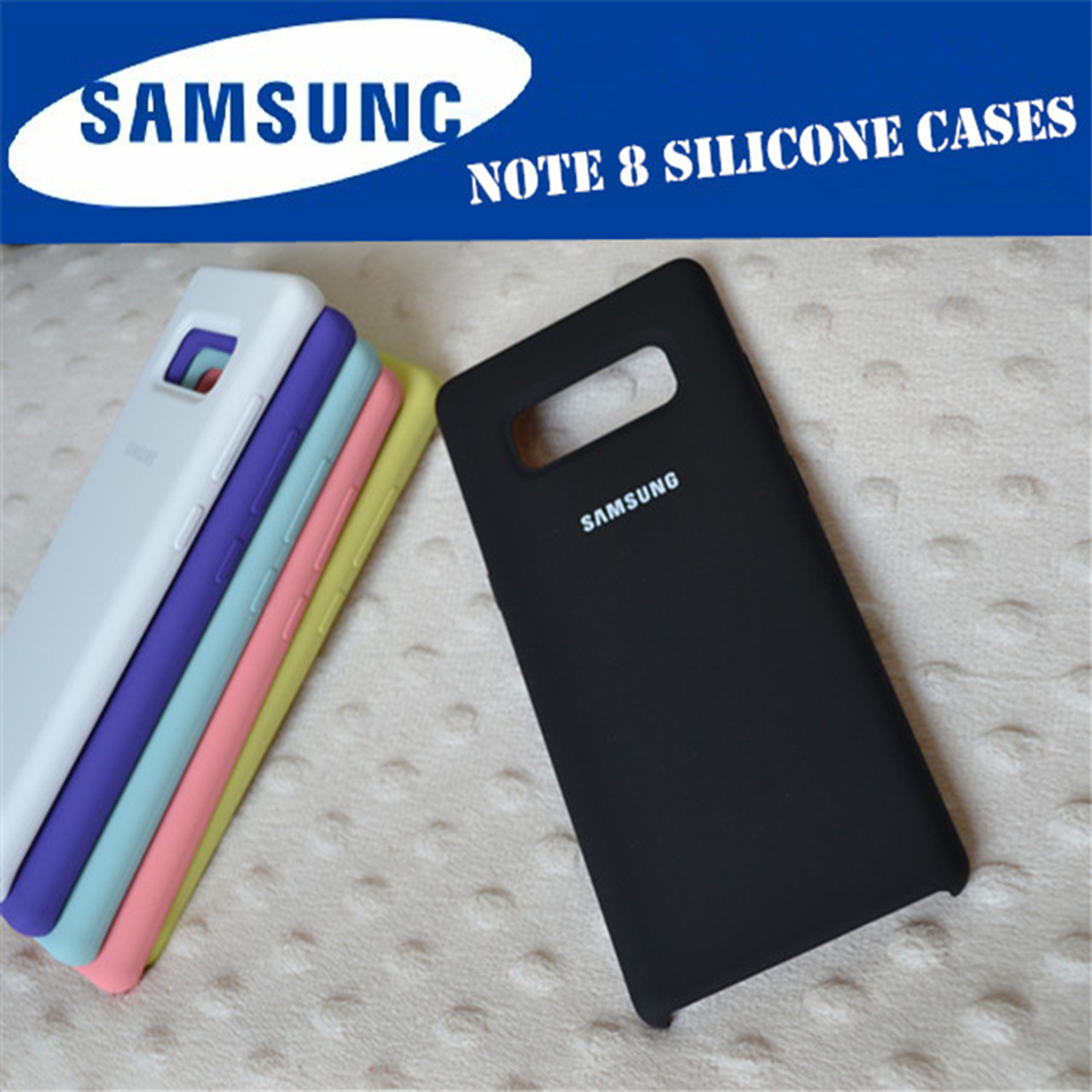 more photos 931a3 1077c 100% Original Samsung Silicone Cover Case for Samsung Galaxy Note 8 N9500  N950F 7 colour Anti-Wear Protection