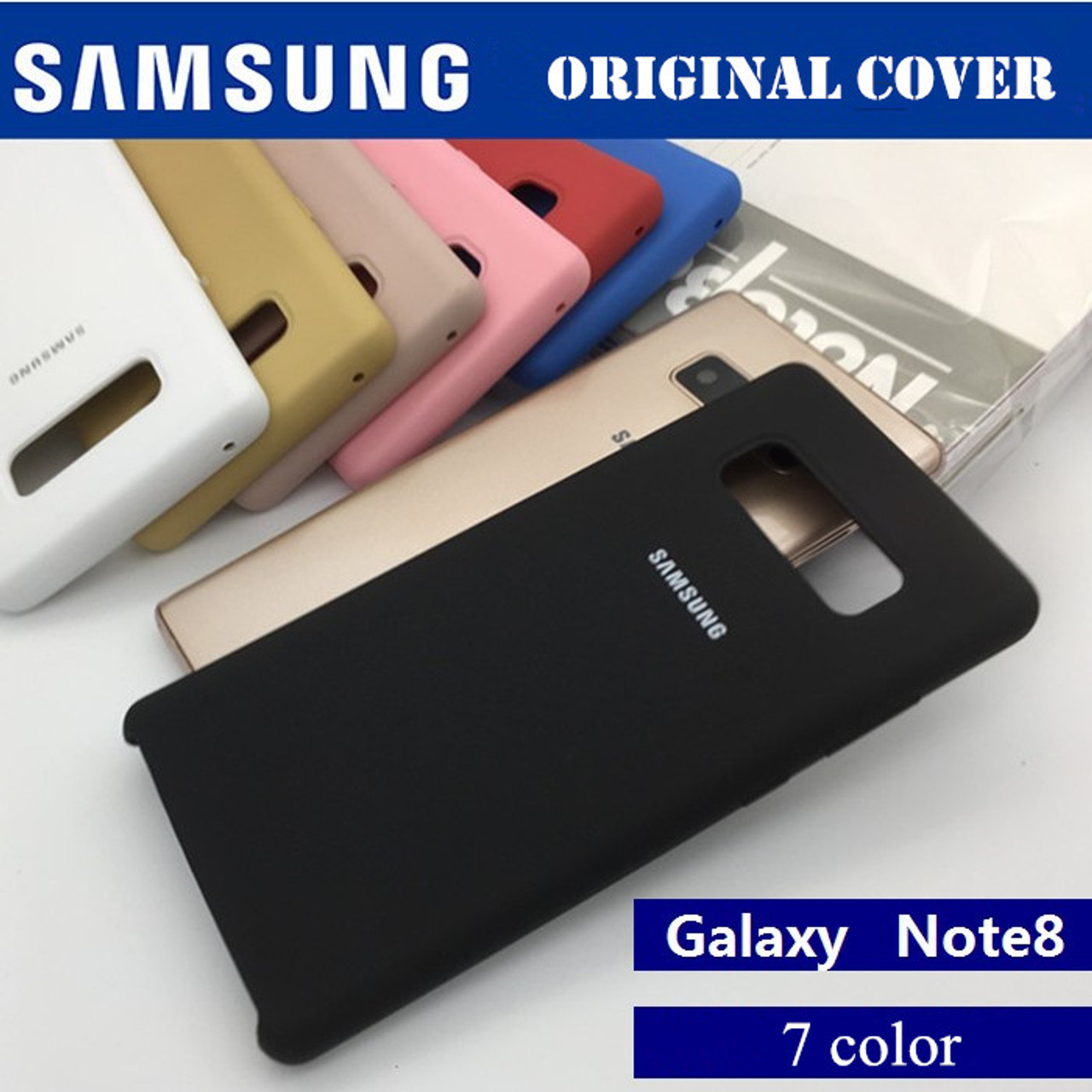 sports shoes 588ac 938de 100% Original Samsung Galaxy Note 8 N9500 N950F Silicone Cover Back Case  Protection - Anti-Wear case 7 colour