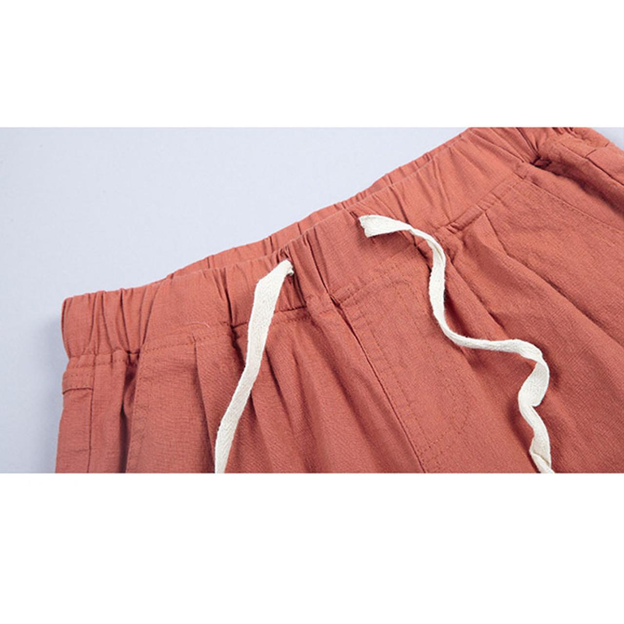 bf3dc01e14b ... New 2018 Summer shorts women high waist Fashion Pleated Loose solid  cotton linen feminino short for ...