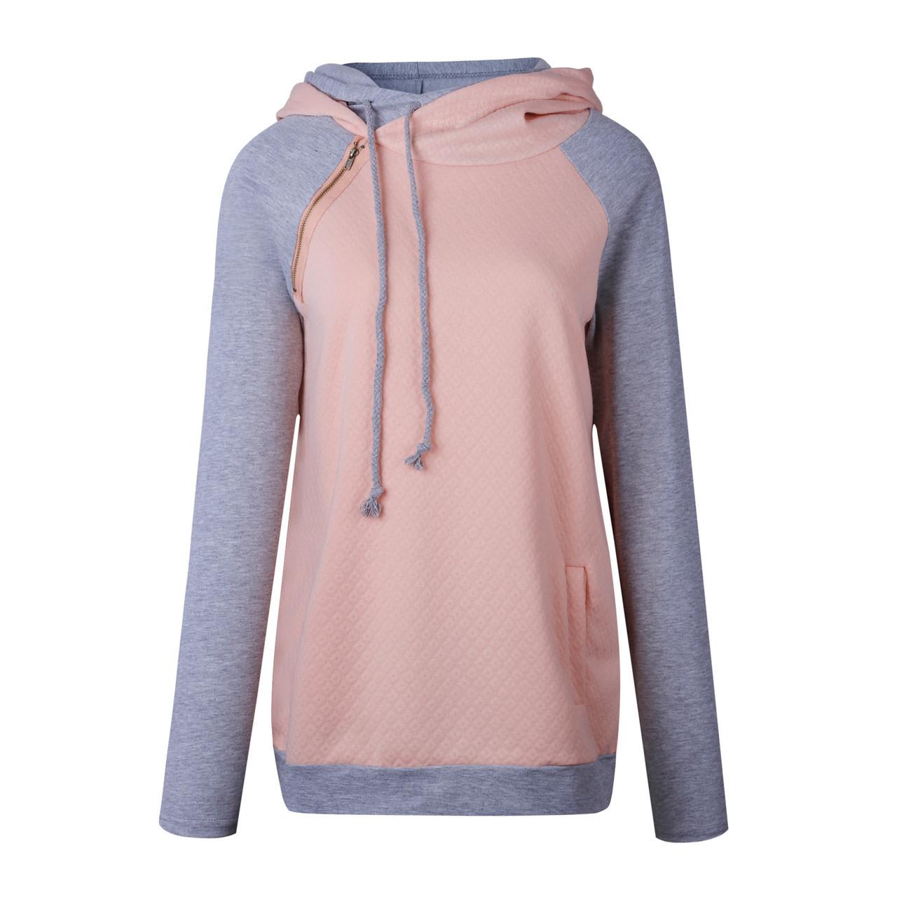 4244b63e877 ... Oversize Hoodies Sweatshirts Women Pullover Hoodie Female Patchwork  Double Hood Hooded Sweatshirt Autumn Coat Warm Hoody ...