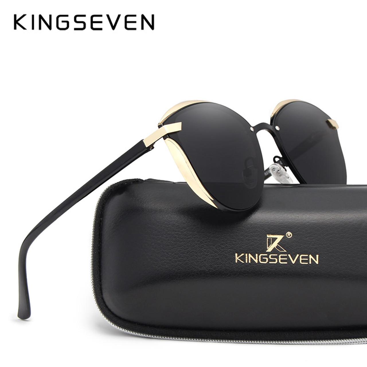 KINGSEVEN Cat Eye Sunglasses Women Fashion Ladies Sun Glasses Female Vintage  Shades Oculos de sol Feminino ... f579d600eb