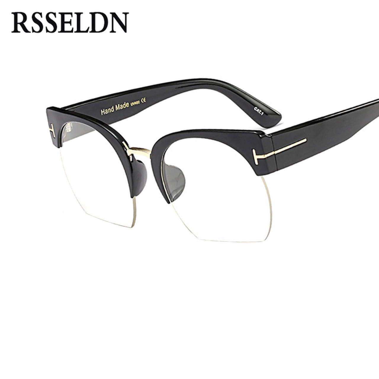 5430c74b3e7 ... RSSELDN Newest Semi-Rimless Sunglasses Women Brand Designer Clear Lens  Sun Glasses For Women Fashion ...
