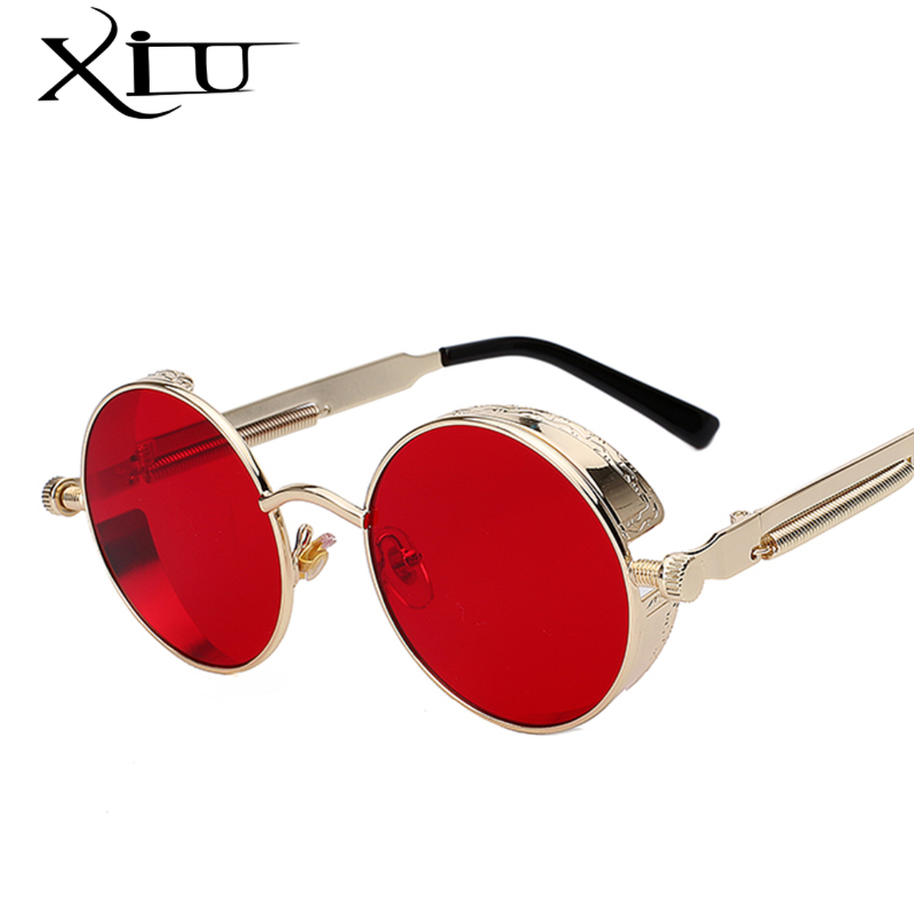 063d50411a Round Metal Sunglasses Steampunk Men Women Fashion Glasses Brand Designer  Retro Vintage Sunglasses UV400 - OnshopDeals.Com