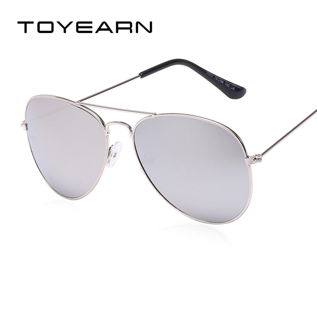 a9105a778b5e ... TOYEARN Vintage Classic Brand Designer Men s Pilot Sunglasses Women Men  Driving UV400 Mirror Sun Glasses Female ...