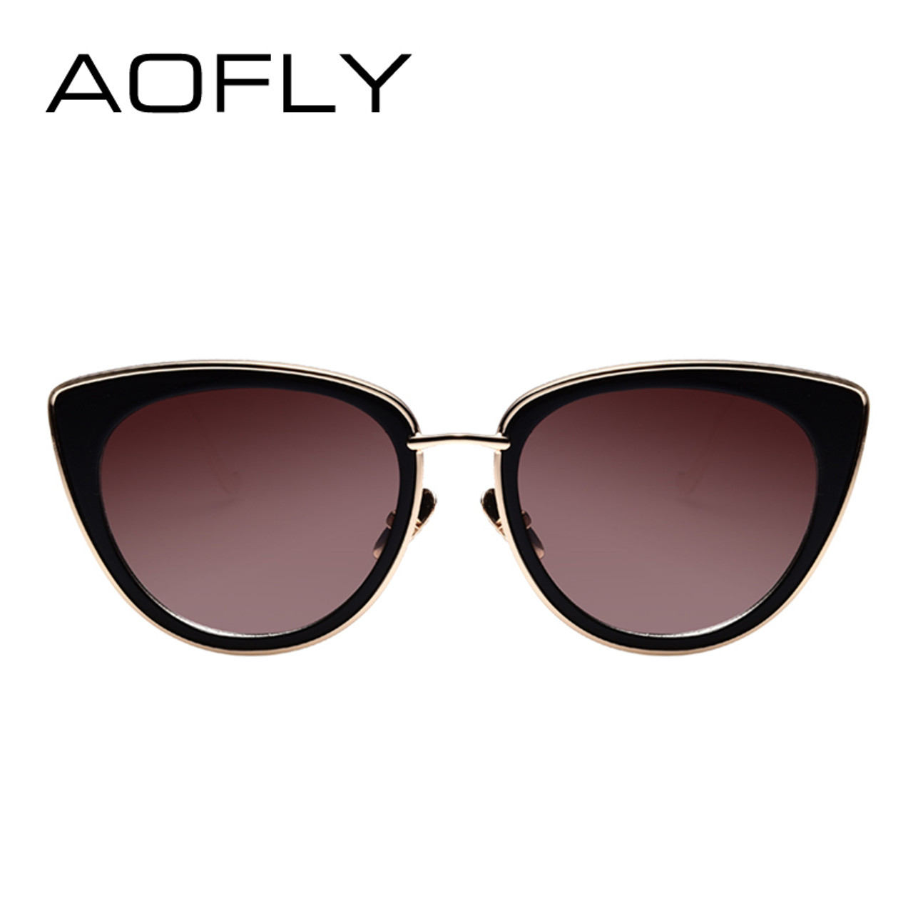 9bd9171964 ... AOFLY Metal Frame Cat Eye Women Sunglasses Female Sunglasses Famous  Brand Designer Alloy Legs Glasses oculos ...