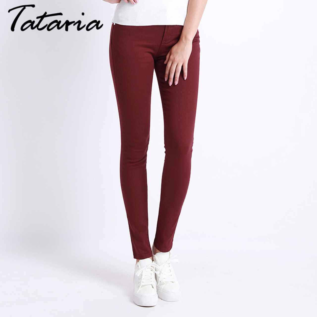 10a6760c99c ... Jeans Female Denim Pants Candy Color Womens Jeans Donna Stretch Bottoms  Feminino Skinny Pants For Women ...