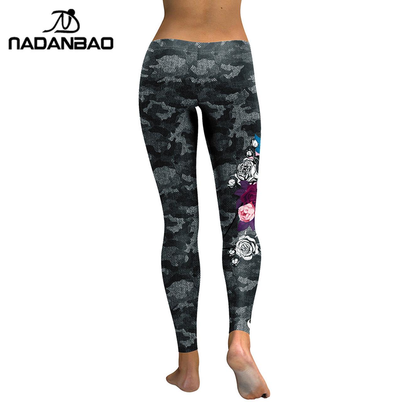 83ba2a5de4f4d1 ... NADANBAO New Arrival Leggings Women Skull Head 3D Printed Camouflage Legging  Fitness Leggins Slim Elastic Trousers ...