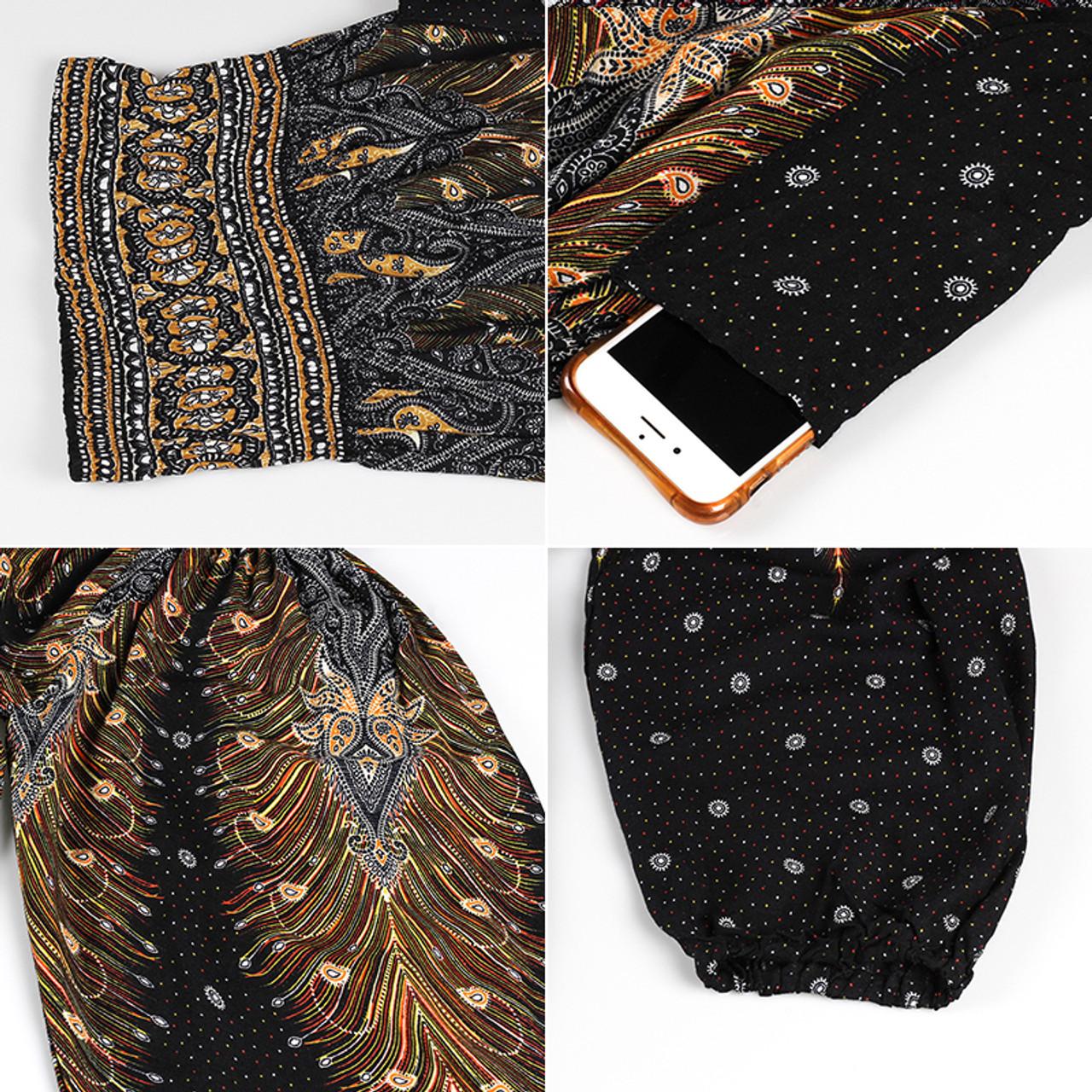 50b6795d4b2 ... CHLEISURE 10 Colors Summer Beach Bohemian Pants Women High Waist Harem  Pants Plus Size Loose Print ...