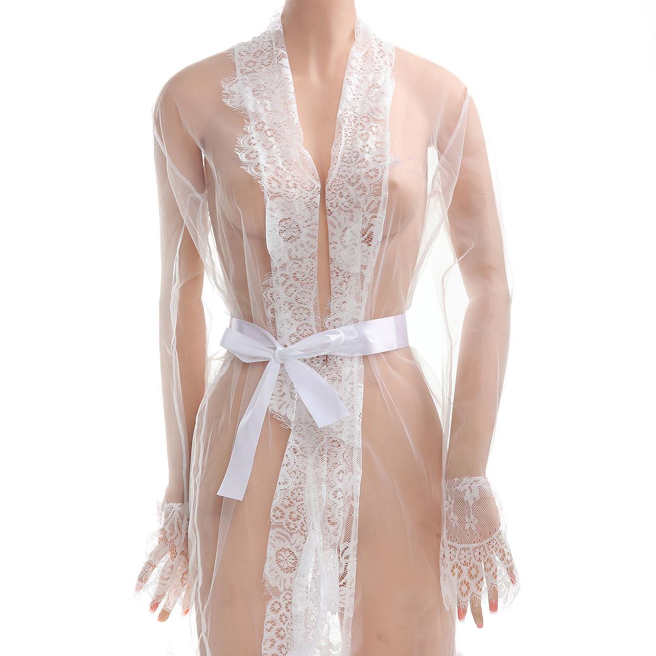 e395be2e997 ... 2017 Newest Fashion Women Sexy Lace Robe Dress Breathable Lace G-string  Dress Bathrobes Pajamas ...