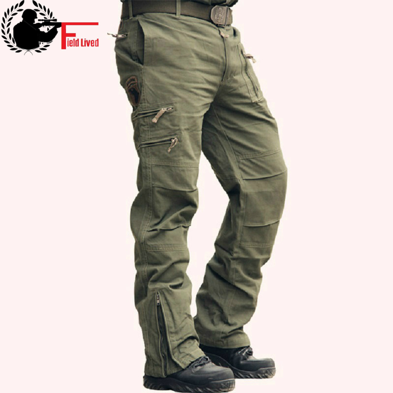 e4d1278cd24 Tactical Pants Male Camo Jogger Casual Plus Size Cotton Trousers Multi  Pocket Military Style Army Camouflage ...