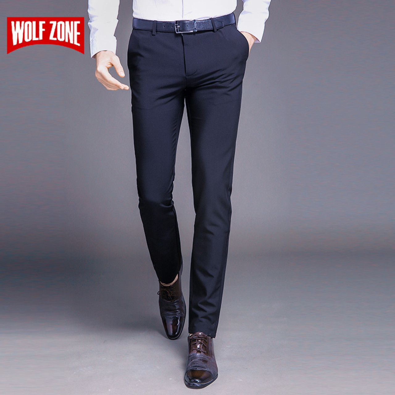 Men's Clothing Pants 2018 New Mens Linen Casual Pants Slim Fit Fashion Business Casual Trousers Male Trouser Full Length Straight Slacks Mens High Safety