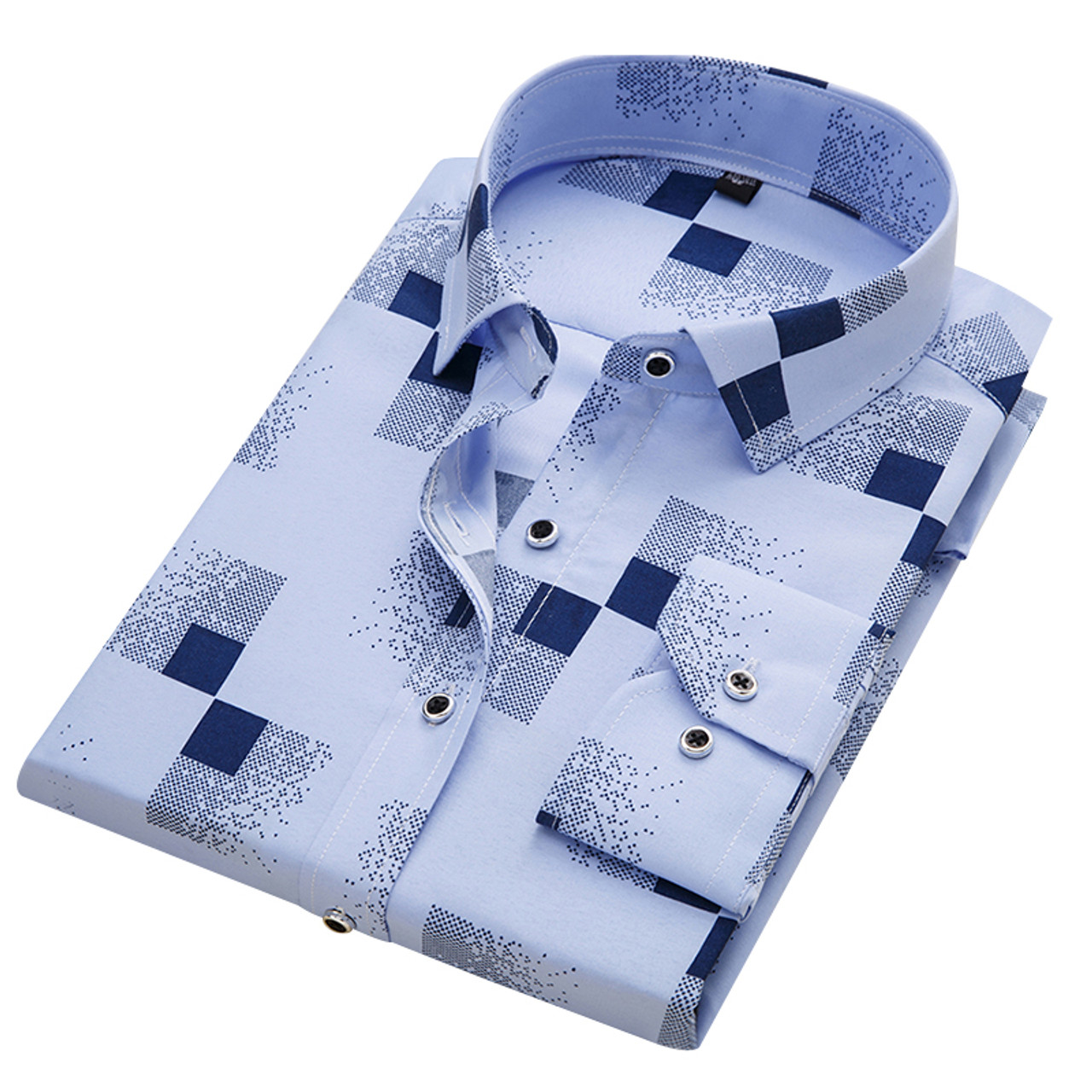 0b69cb3623ab9 DAVYDAISY 2018 New Arrival 100% Polyester Men's Shirt Fashion Men Print  Long Sleeved Shirt Male Slim Fit Brand Clothing DS217