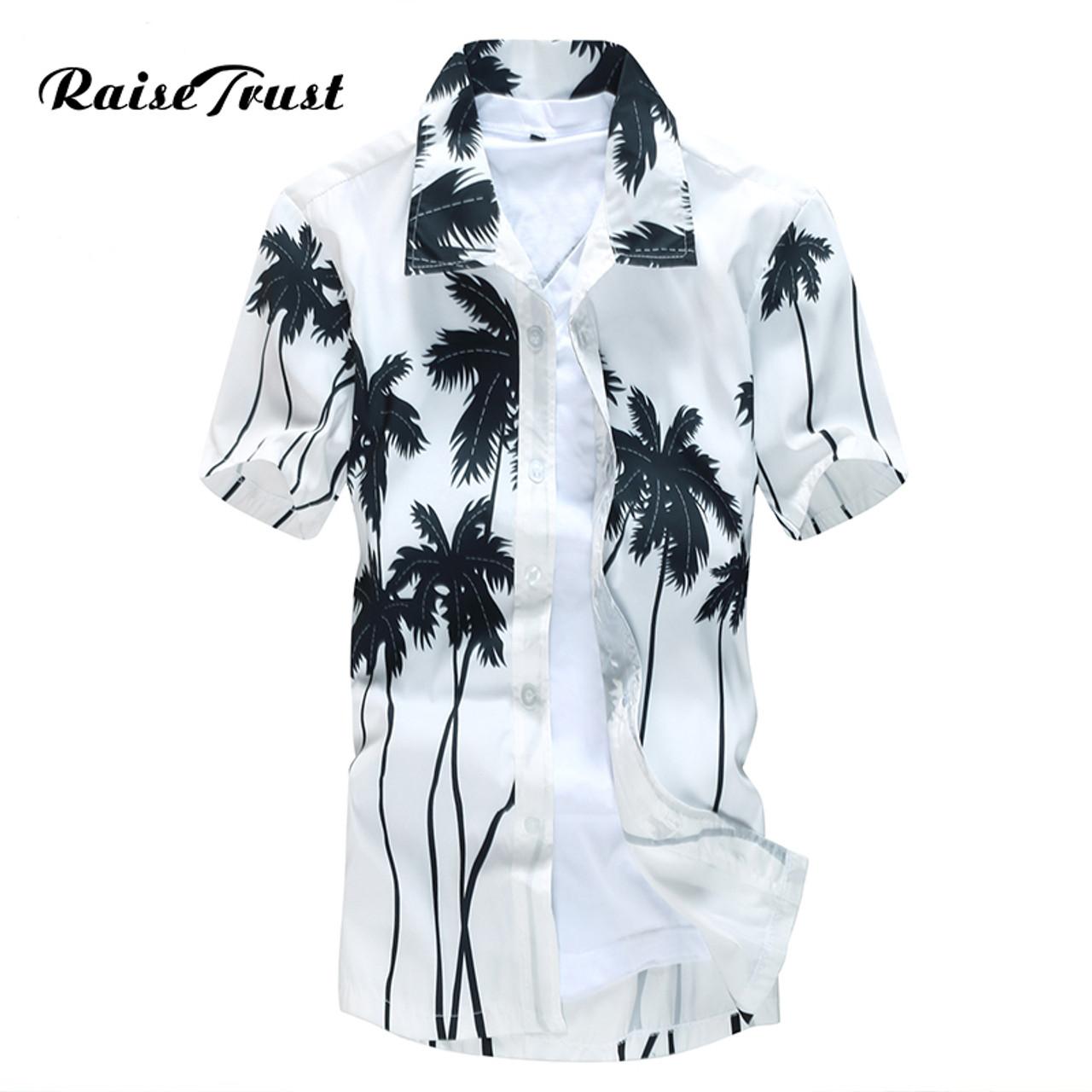 bdde705f7201 Mens Hawaiian Shirt Male Casual camisa masculina Printed Beach Shirts Short  Sleeve brand clothing Free Shipping ...