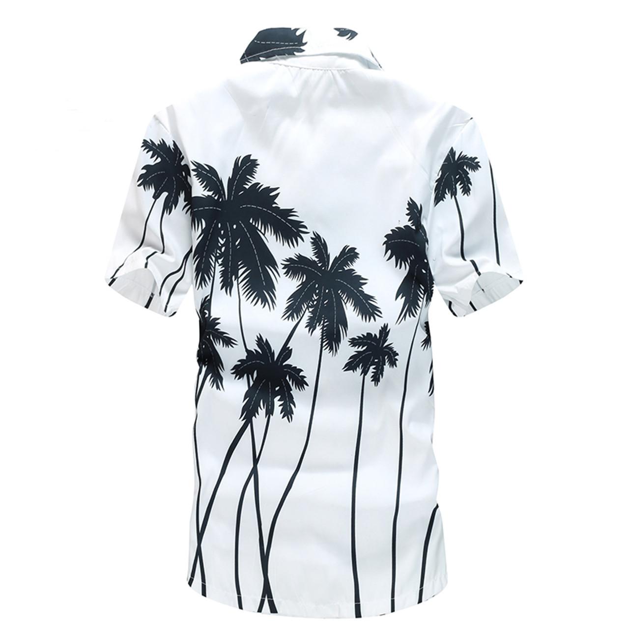 347b0b864b54 ... Mens Hawaiian Shirt Male Casual camisa masculina Printed Beach Shirts  Short Sleeve brand clothing Free Shipping ...
