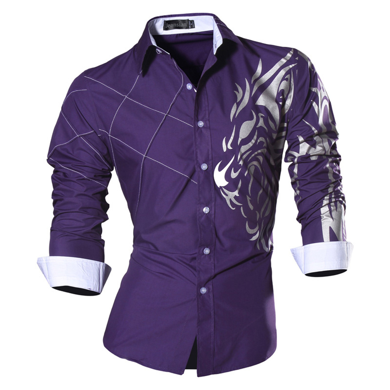2018 spring autumn features shirts men casual jeans shirt new