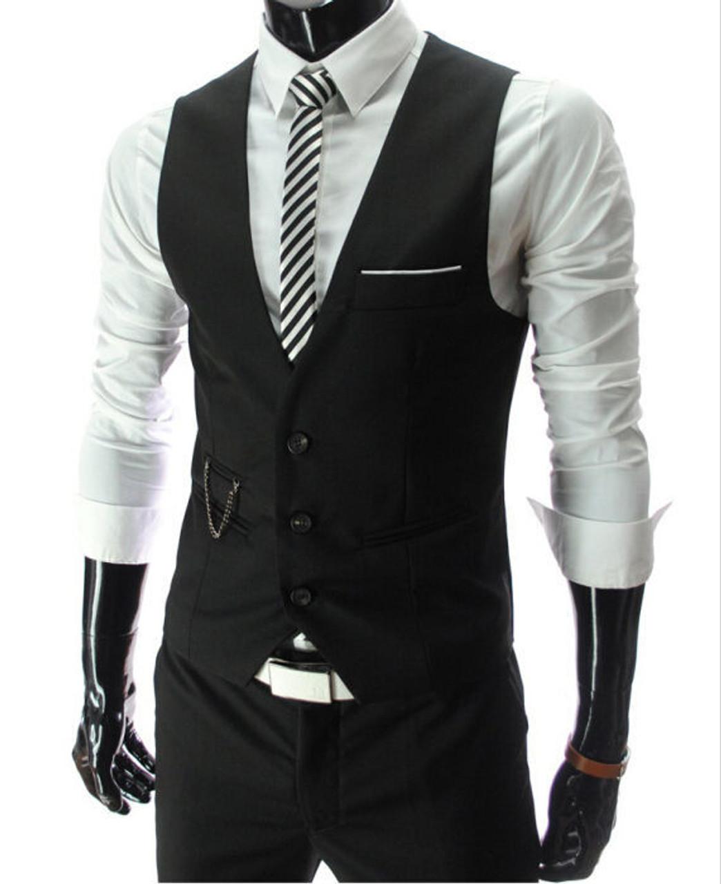 1bdd8979c5a78 2018 New Arrival Dress Vests For Men Slim Fit Mens Suit Vest Male Waistcoat  Gilet Homme ...