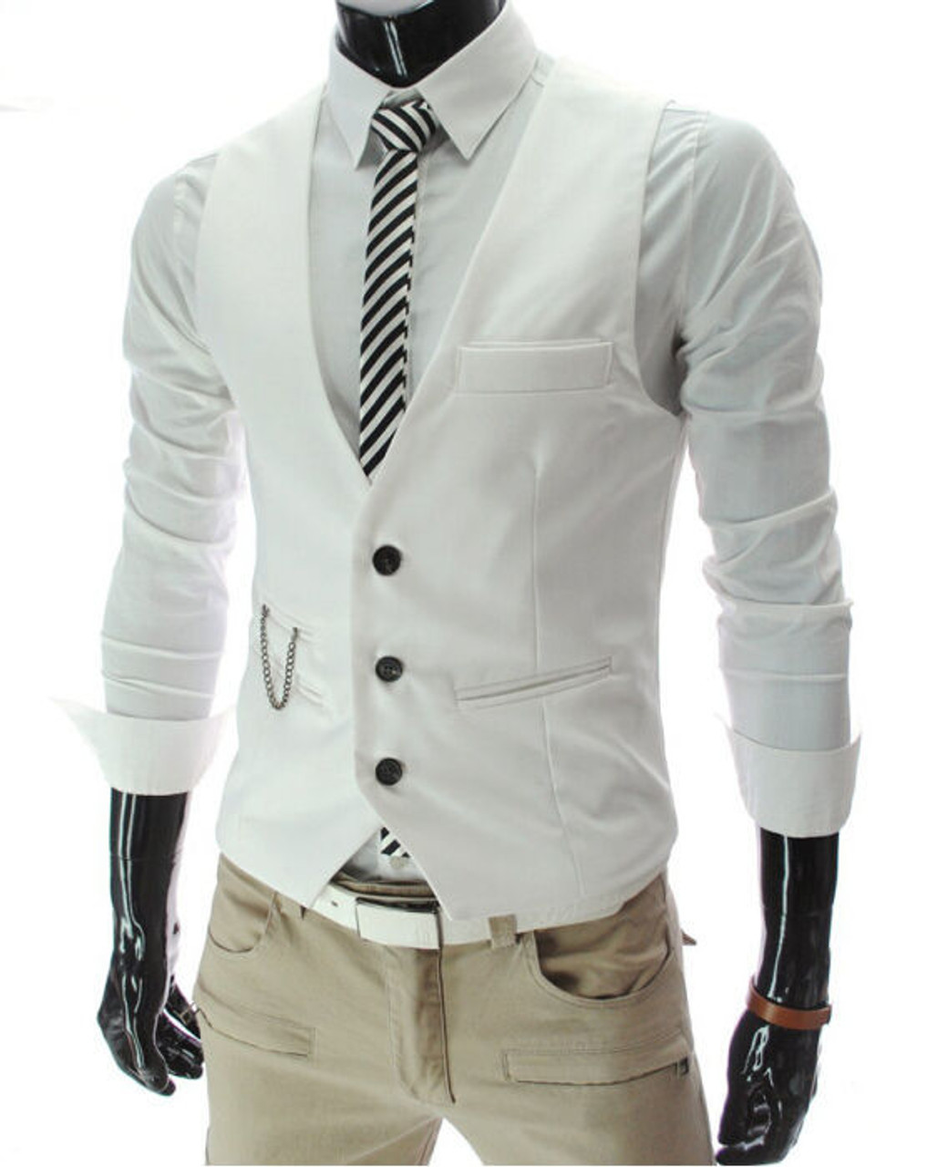 Plus Size Men/'s Formal Business Slim Fit Dress Vest Suit Tuxedo Waistcoat Tops