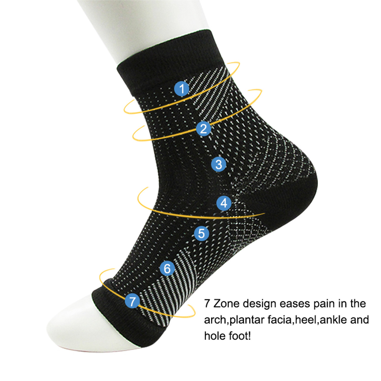 Dropshipping Comfort Foot Anti Fatigue women Compression socks Sleeve  Elastic Men's Socks Women Relieve Swell Ankle sokken - OnshopDeals.Com