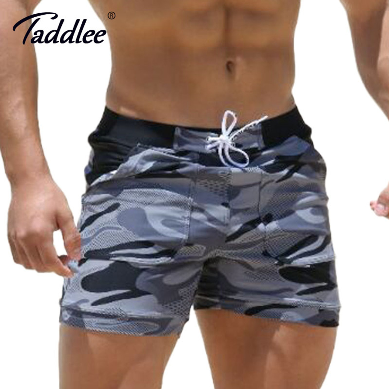 f91007976a8 Taddlee Brand Sexy Men's Swimwear Swimsuits Man Plus Big Size XXL Spandex  Beach Long Board Shorts Boxer High Rise Cut Trunks Men - OnshopDeals.Com