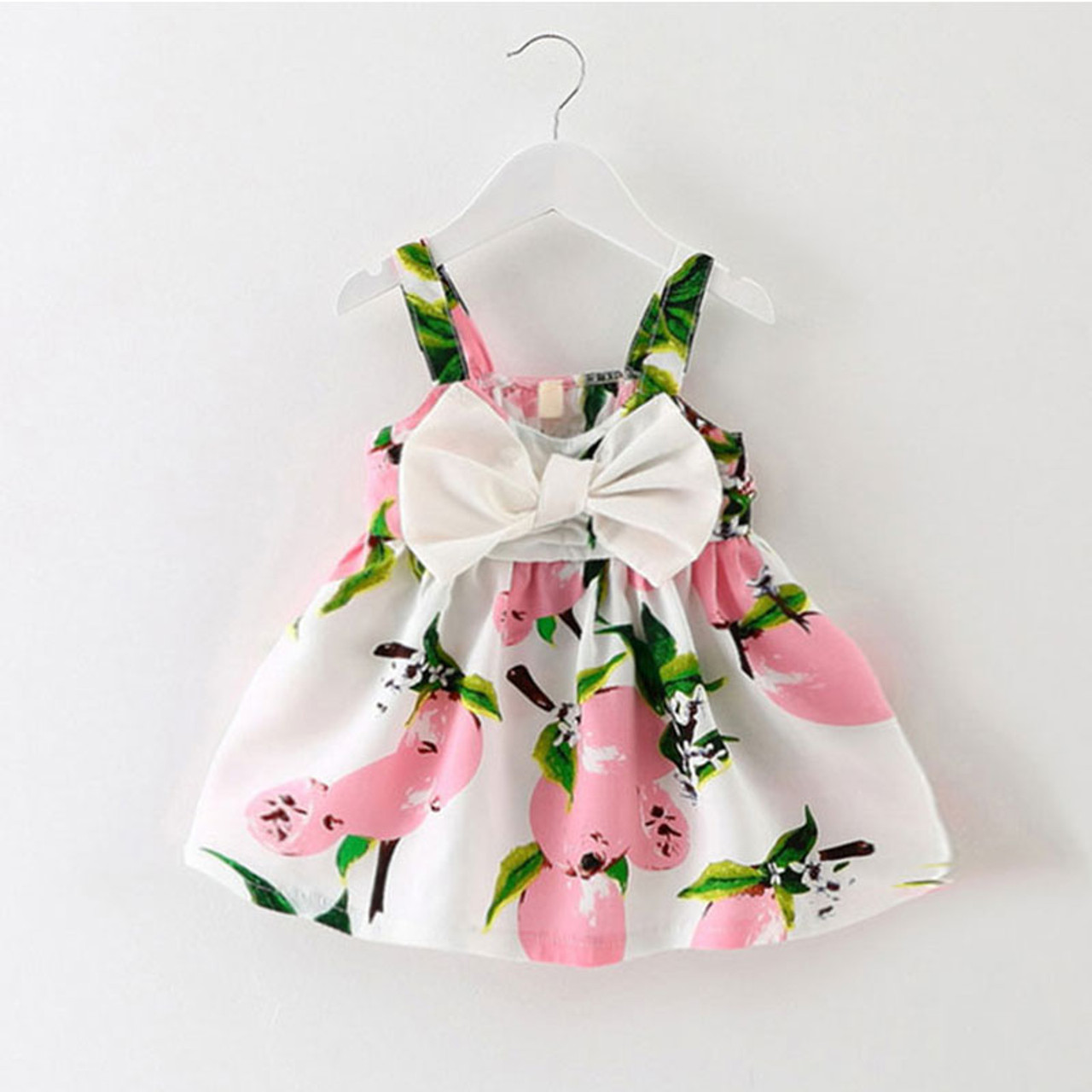 a80955e37 Infant baby clothes brand design sleeveless print bow dress 2016 ...