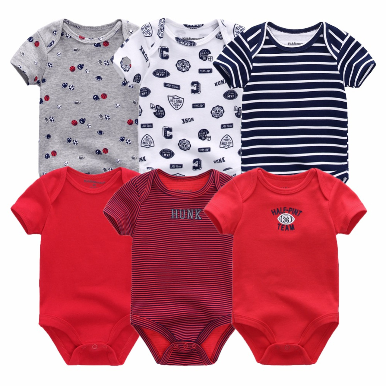 818e442debf56 ... 6 PCS/lot newborn baby bodysuits short sleevele baby clothes O-neck 0-  ...