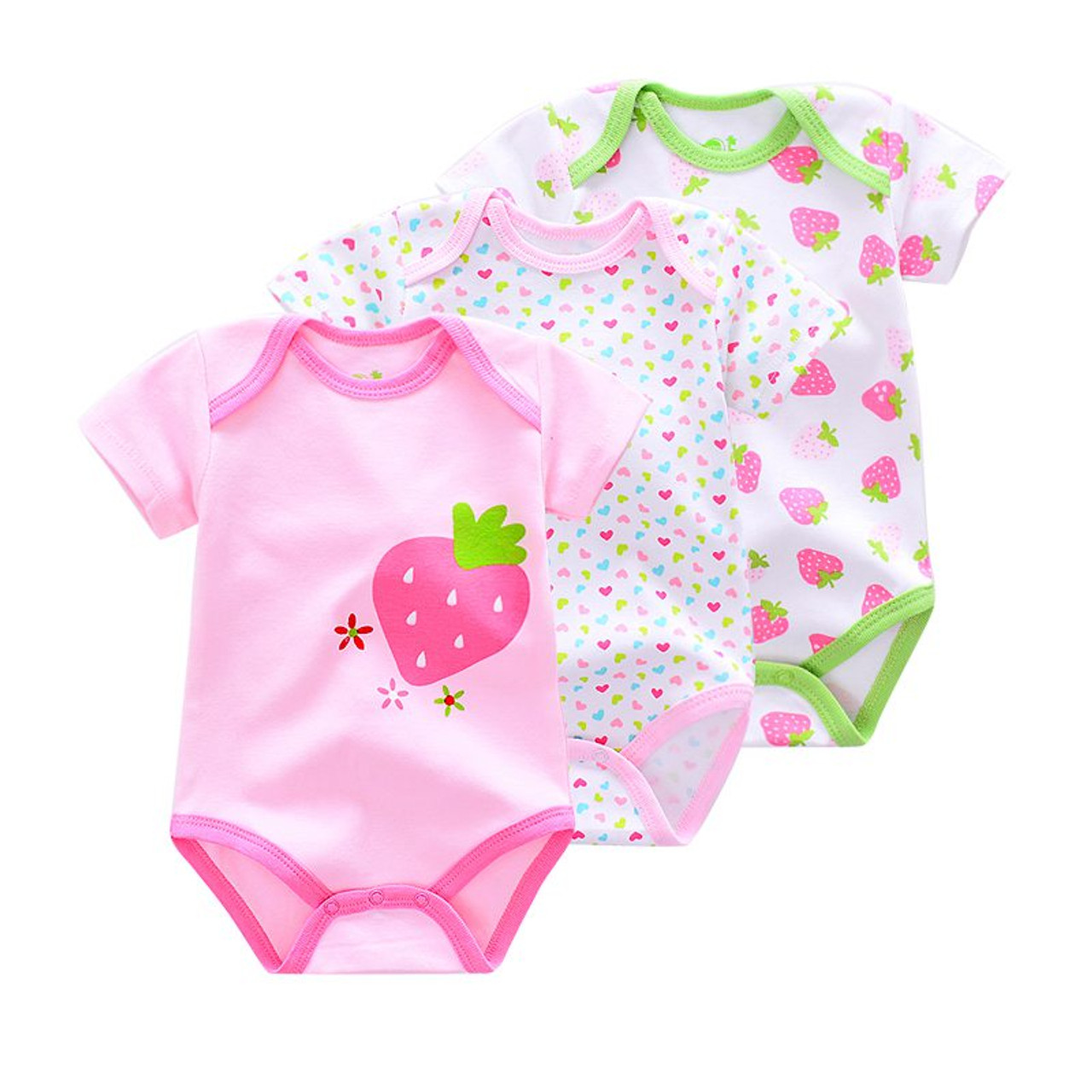 e59ae639936eb ... 3 Pieces/lot Brand Summer Baby Boys Romper Animal style Short Sleeve  cotton infant rompers ...
