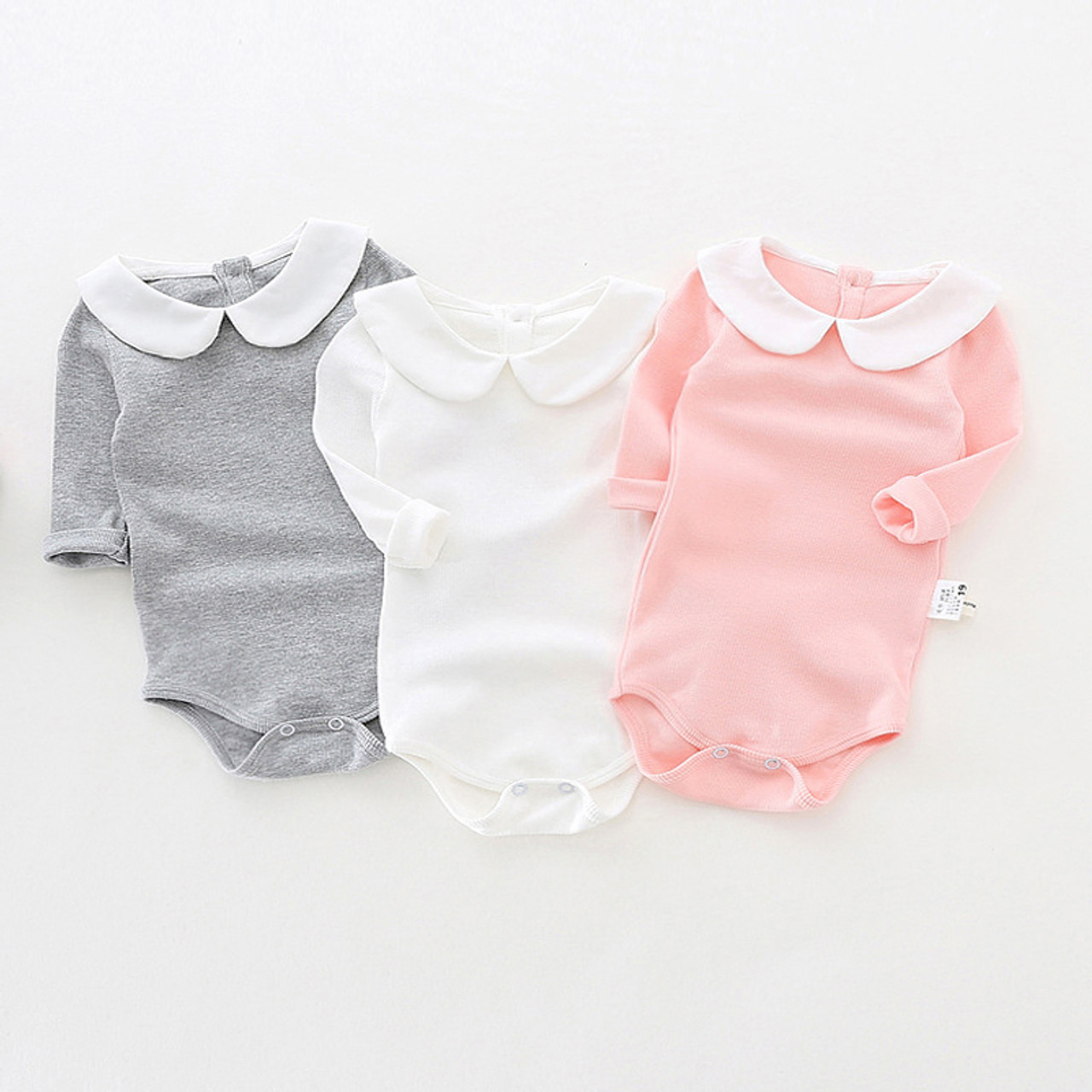 796903f68936 Cute Newborn Baby Girl Clothing Long Sleeve Cotton Baby Rompers ...