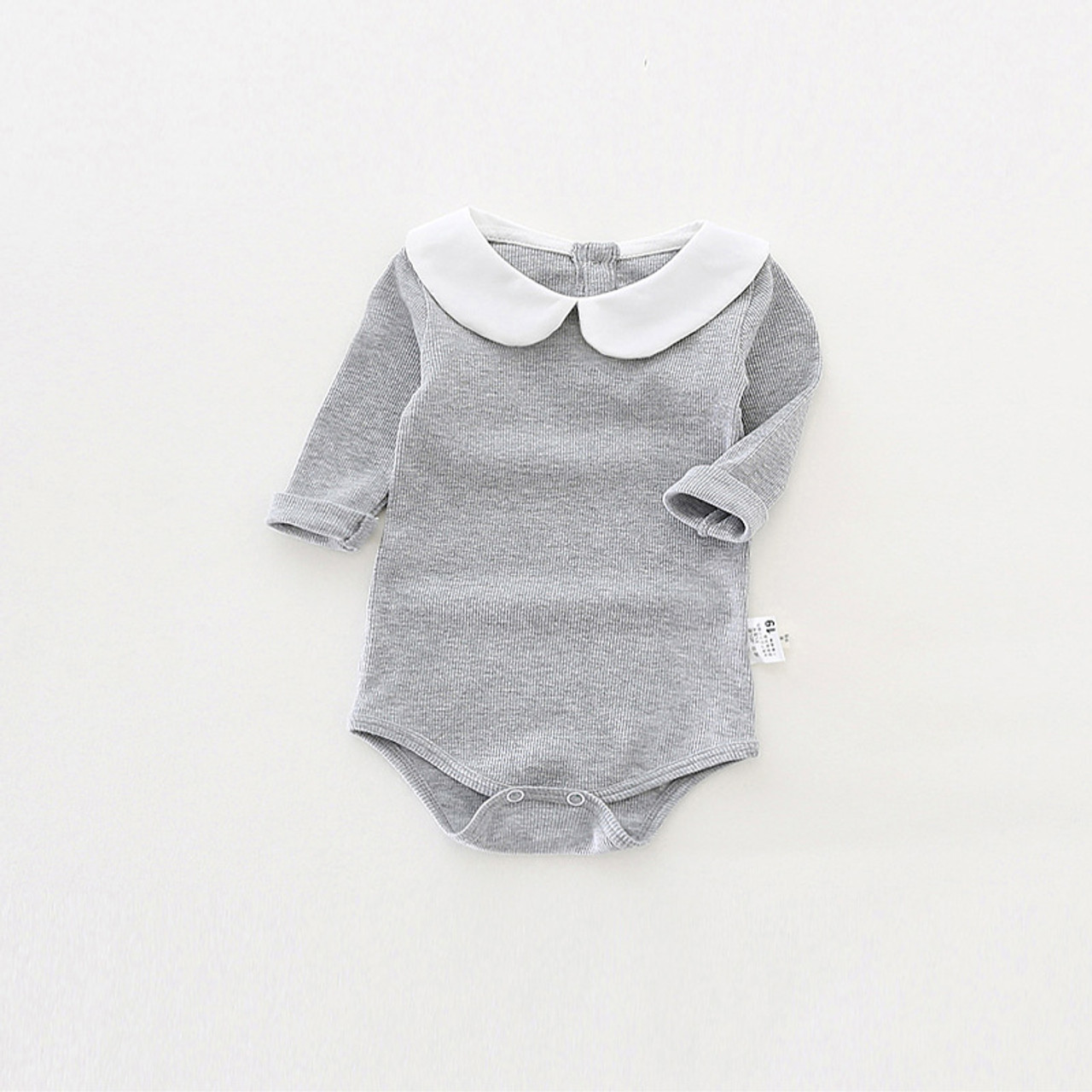 04a00da0c ... Cute Newborn Baby Girl Clothing Long Sleeve Cotton Baby Rompers Peter  Pan Collar Baby Girls Jumpsuit ...